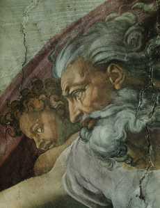 022[amolenuvolette.it]1510 voute de la chapelle sixtine la création d'adam détail dieu