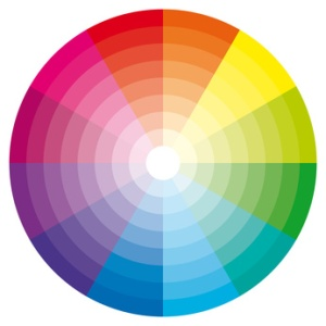 Color wheel illustration. cercle chromatique