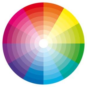 Color wheel illustration. cercle chromatique